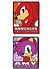 Sonic: Knuckles and Amy Square (PVC)Pin